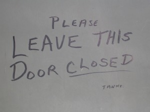 Please Leave This Door Closed - Tanks