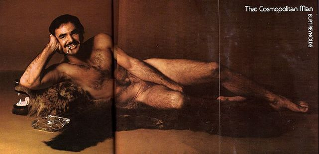 Burt Reynolds on Bear Skin Rug