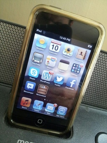 iPod Touch on dock