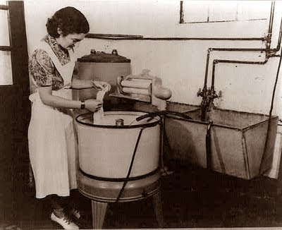 Old fashioned washing machine
