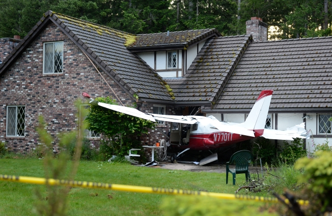No one was injured with this plane hit a house in Eatonville, Wash., in May 2013. But planes do hit houses, and people do die. (Credit The News Tribune).
